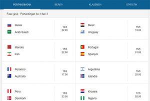 Jadwal Piala Dunia 2018 Agen Bola88 Terpercaya